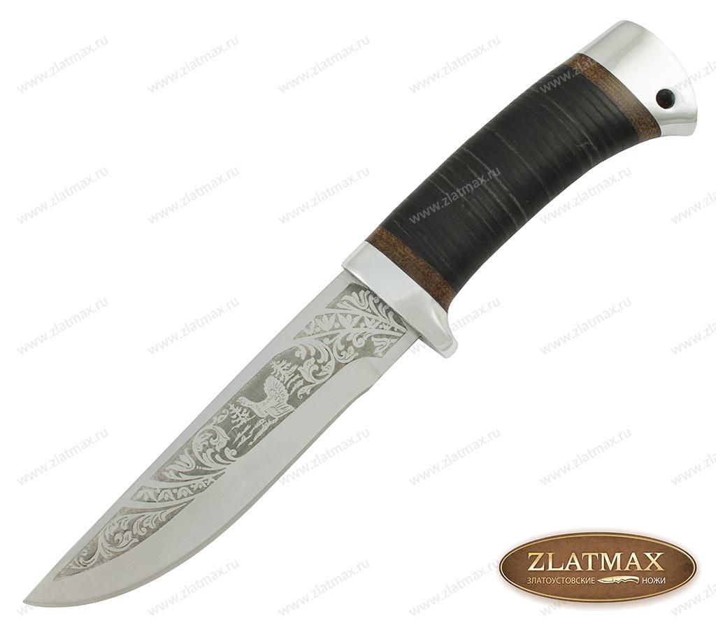Нож туристический НС-16 (40Х10С2М, Наборная кожа, Алюминий) фото-01