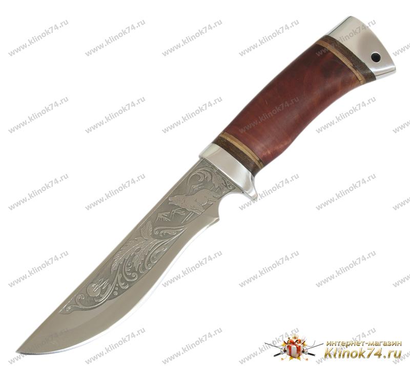 Нож туристический НС-17 (40Х10С2М, Берёзовый кап, Алюминий) фото-01