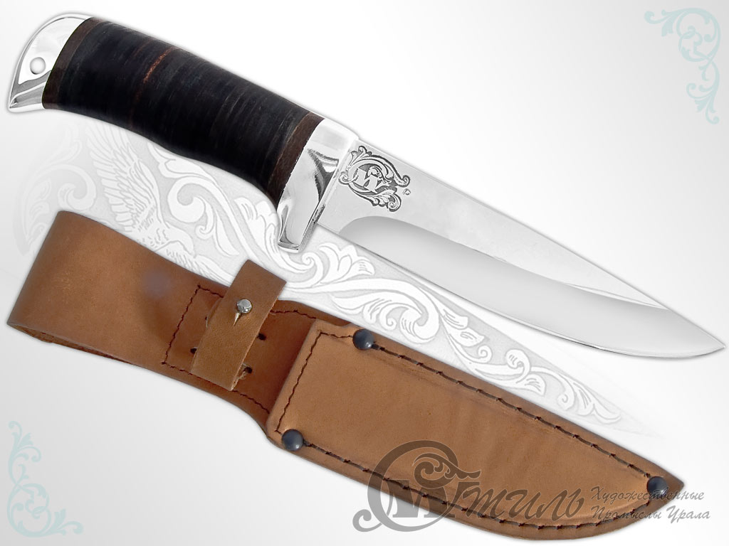 Нож туристический НС-18 (40Х10С2М, Наборная кожа, Алюминий) фото-01