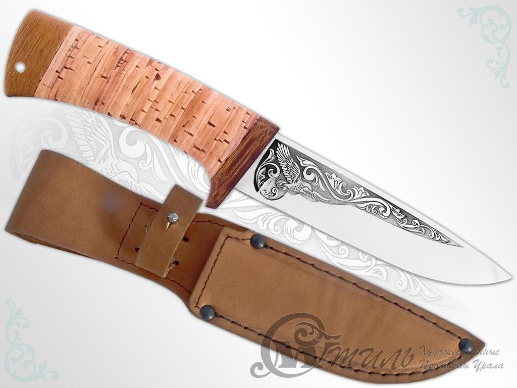 Нож туристический НС-18 (40Х10С2М, Наборная береста, Текстолит) фото 01