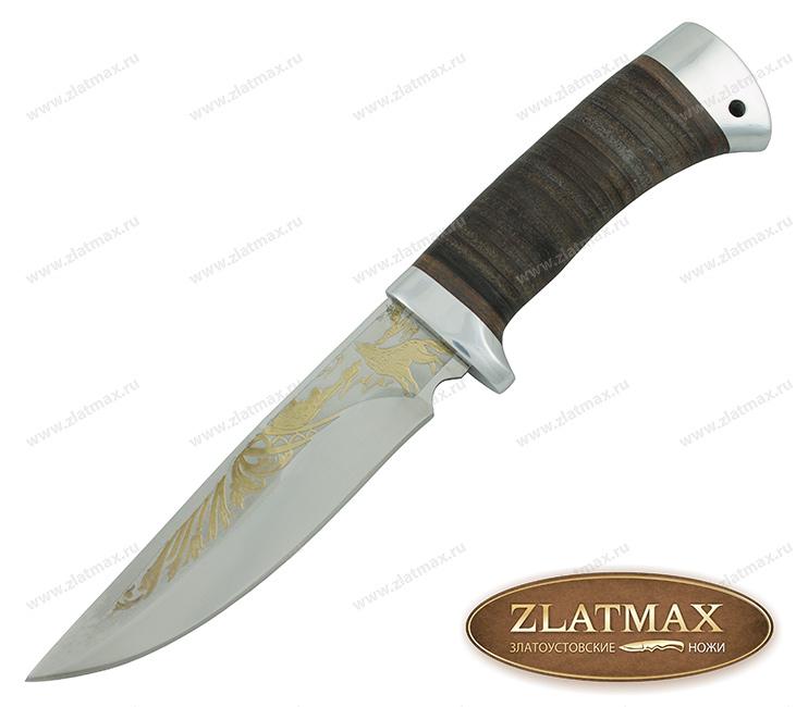 Нож туристический НС-19 (40Х10С2М, Наборная кожа, Алюминий) фото 01