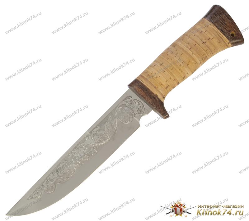 Нож туристический НС-19 (40Х10С2М, Наборная береста, Текстолит) фото 01