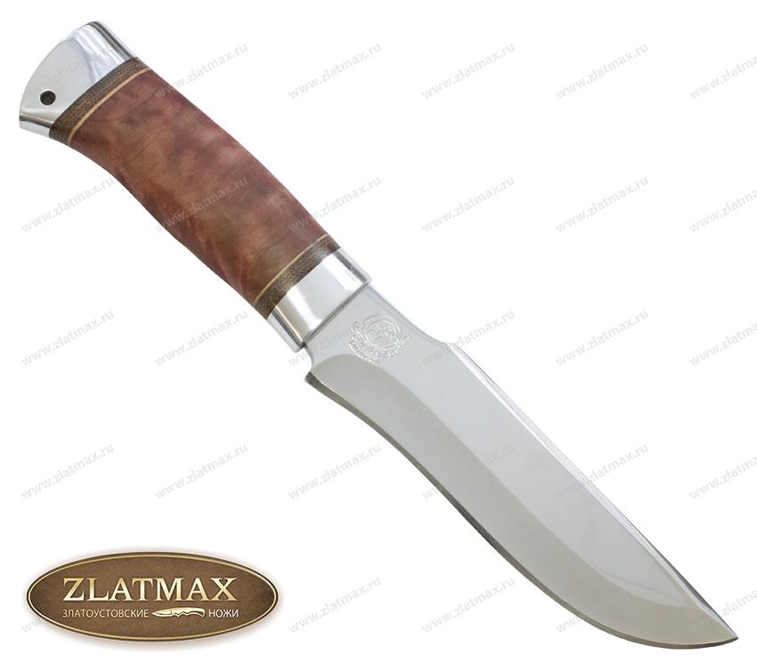 Нож охотничий НС-24 (40Х10С2М, Берёзовый кап, Алюминий) фото 01