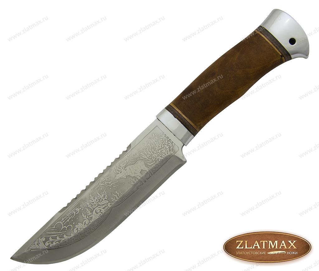 Нож охотничий НС-29 (40Х10С2М, Берёзовый кап, Алюминий) фото 01