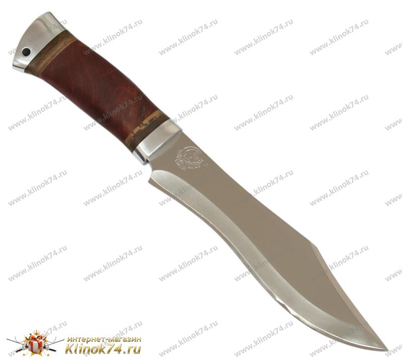 Нож охотничий НС-31 (40Х10С2М, Берёзовый кап, Алюминий) фото-01