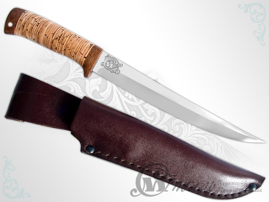 Нож туристический НС-43 (40Х10С2М, Наборная береста, Текстолит) фото-01