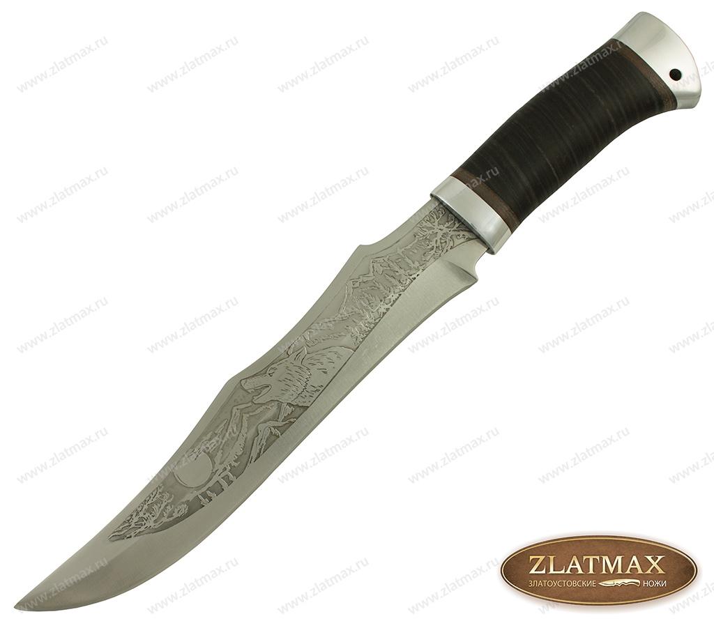Нож охотничий НС-35 (40Х10С2М, Наборная кожа, Алюминий) фото-01