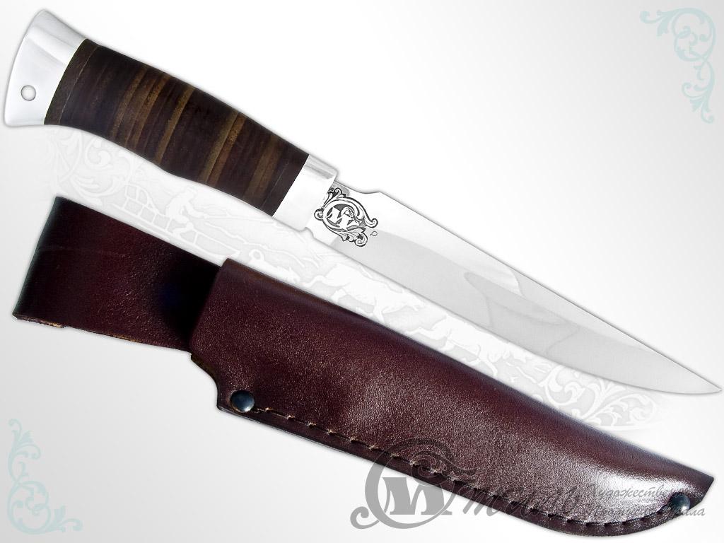 Нож охотничий НС-36 (40Х10С2М, Наборная кожа, Алюминий) фото-01
