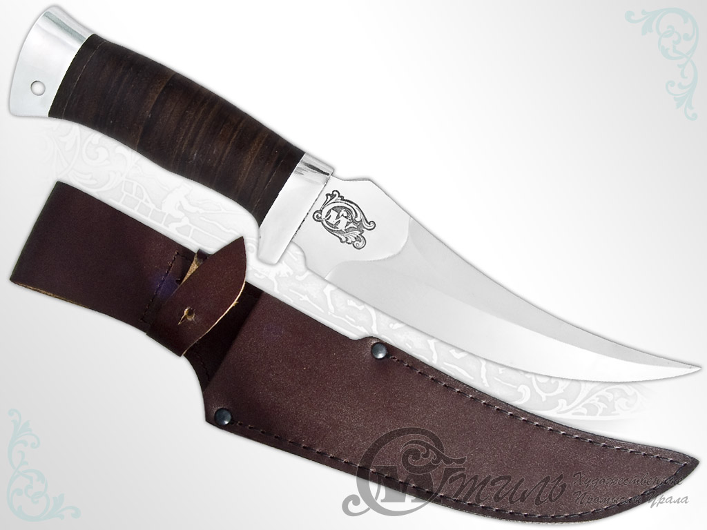 Нож охотничий НС-38 (40Х10С2М, Наборная кожа, Алюминий) фото 01