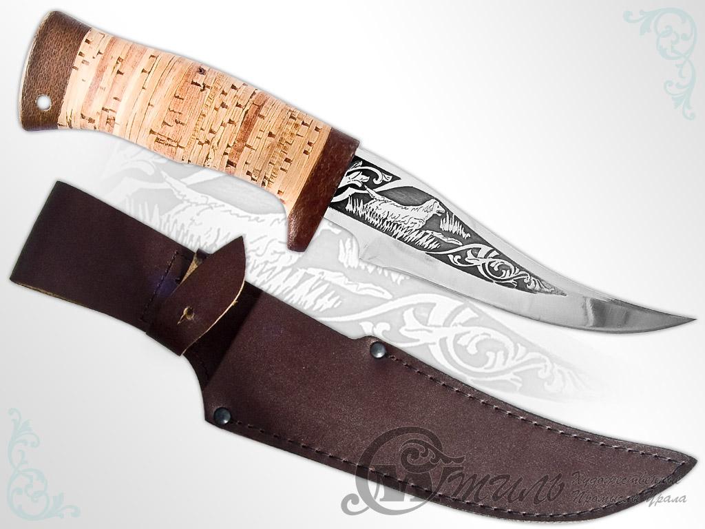 Нож туристический НС-39 (40Х10С2М, Наборная береста, Текстолит) фото-01