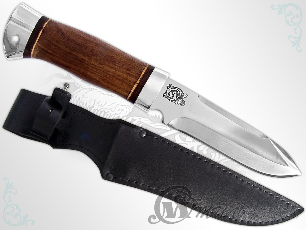 Нож охотничий НС-40 (40Х10С2М, Орех, Алюминий) фото 01