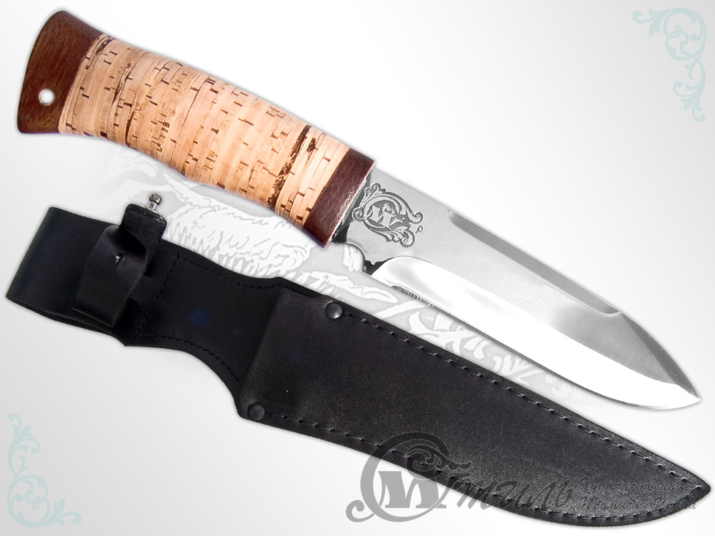 Нож охотничий НС-40 (40Х10С2М, Наборная береста, Текстолит) фото 01