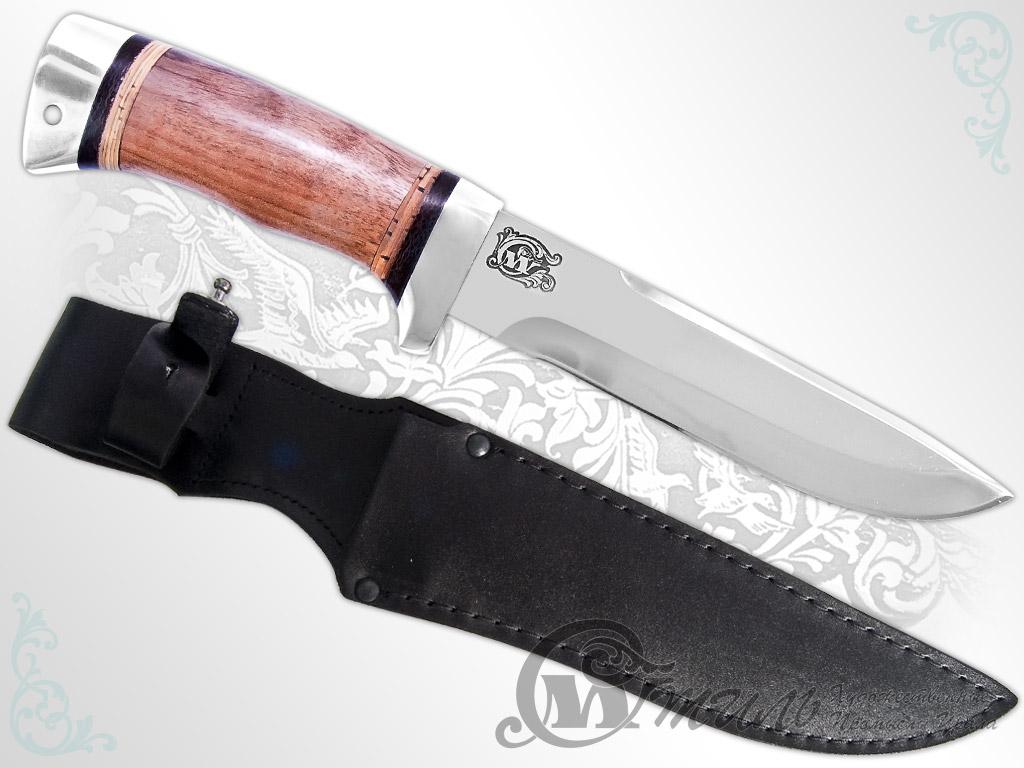 Нож туристический НС-41 (40Х10С2М, Орех, Алюминий) фото 01