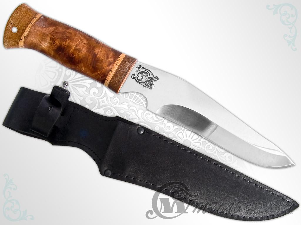 Нож охотничий НС-46 (40Х10С2М, Берёзовый кап, Текстолит) фото 01