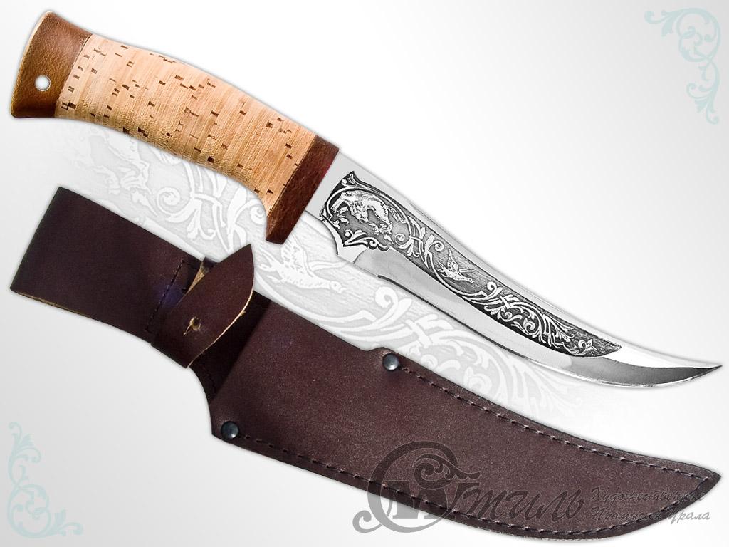 Нож туристический НС-47 (40Х10С2М, Наборная береста, Текстолит) фото 01