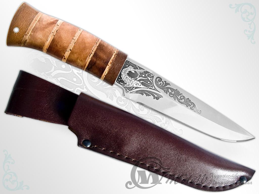 Нож охотничий НС-53 (40Х10С2М, Берёзовый кап, Текстолит) фото 01