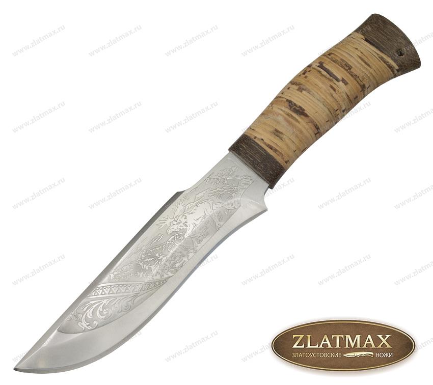 Нож охотничий НС-24 (40Х10С2М, Наборная береста, Текстолит) фото 01