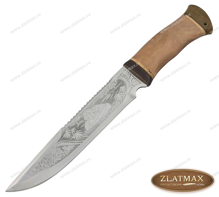 Нож охотничий НС-05 (40Х10С2М, Берёзовый кап, Текстолит) фото 01
