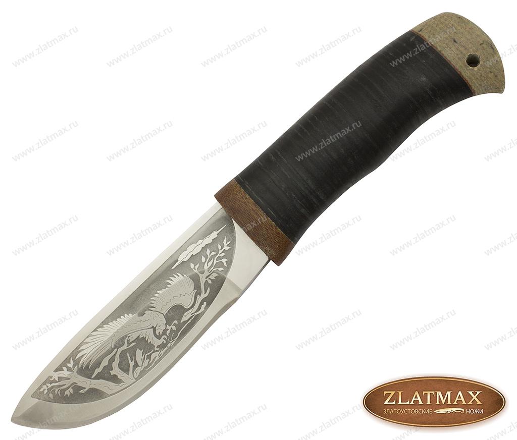 Нож охотничий НС-57 (40Х10С2М, Наборная кожа, Текстолит) фото 01