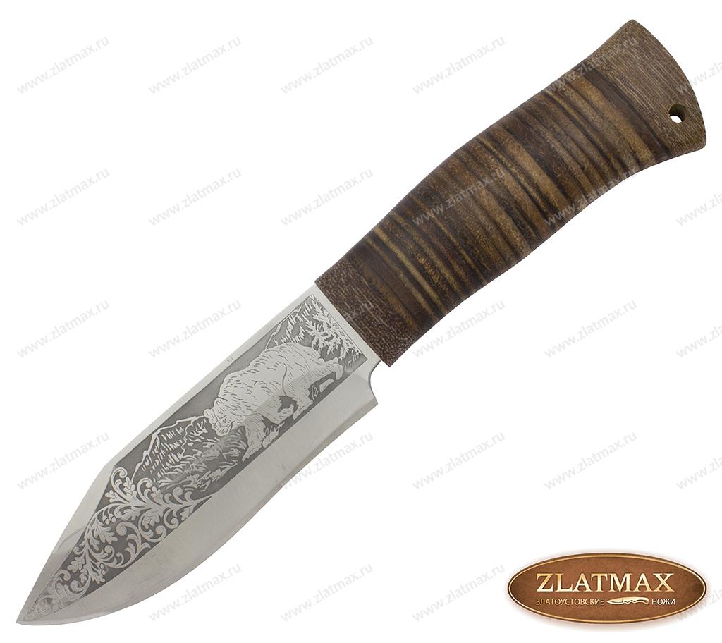 Нож охотничий НС-69 (40Х10С2М, Наборная кожа, Текстолит) фото 01
