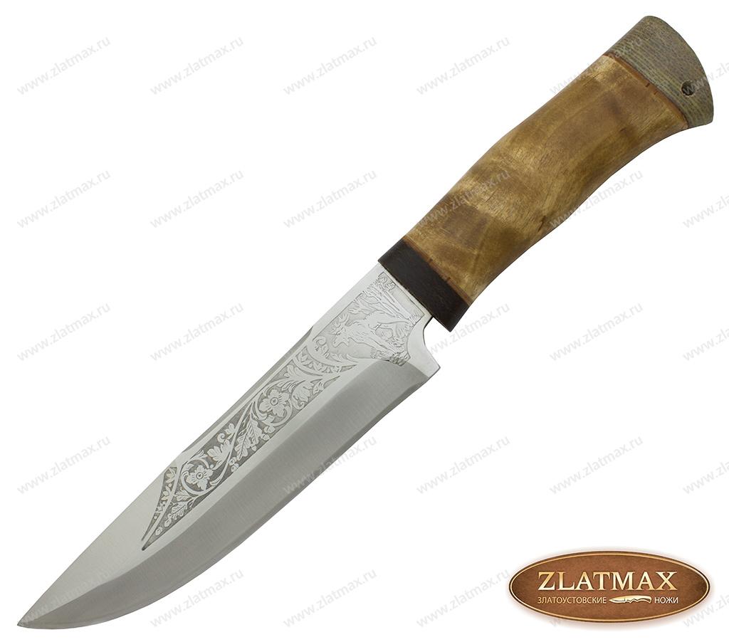 Нож охотничий НС-56 (40Х10С2М, Берёзовый кап, Текстолит) фото 01