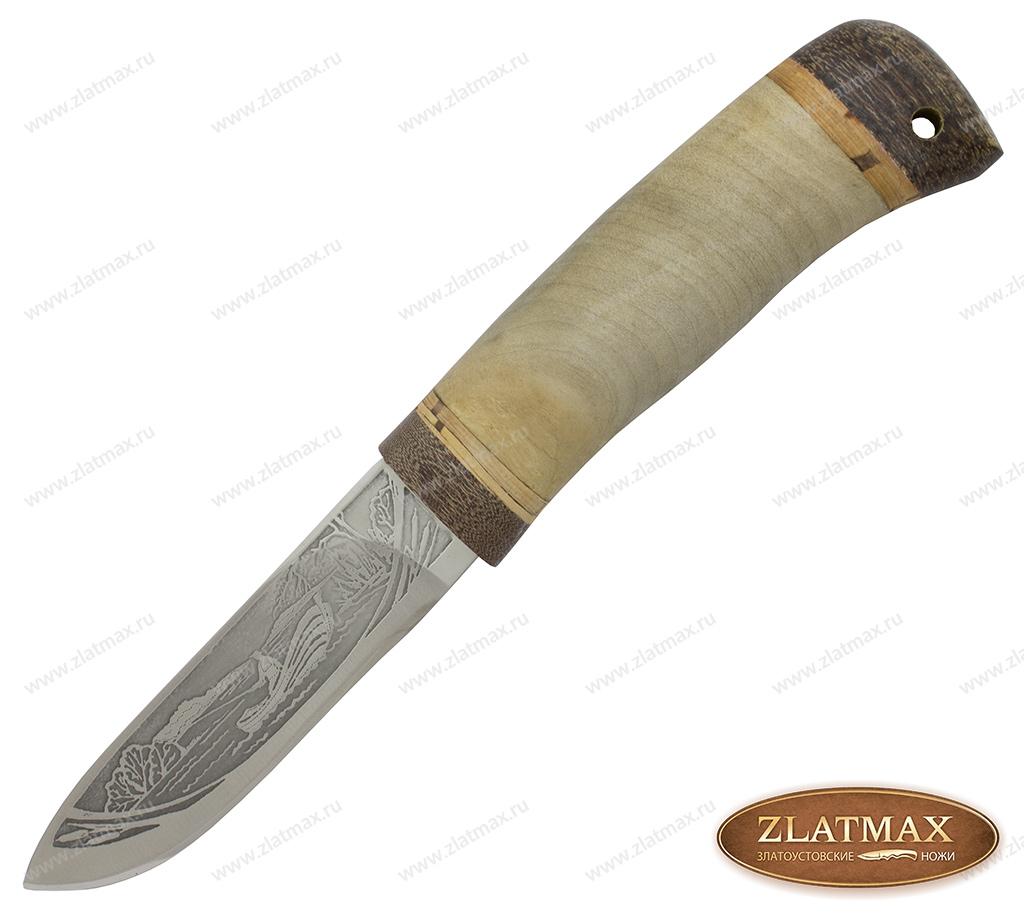 Нож НС-60 (40Х10С2М, Берёзовый кап, Текстолит) фото 01