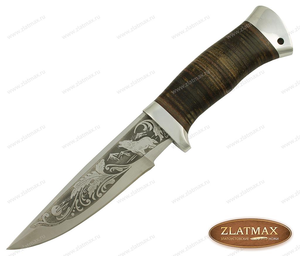 Нож охотничий НС-63 (40Х10С2М, Наборная кожа, Алюминий) фото 01