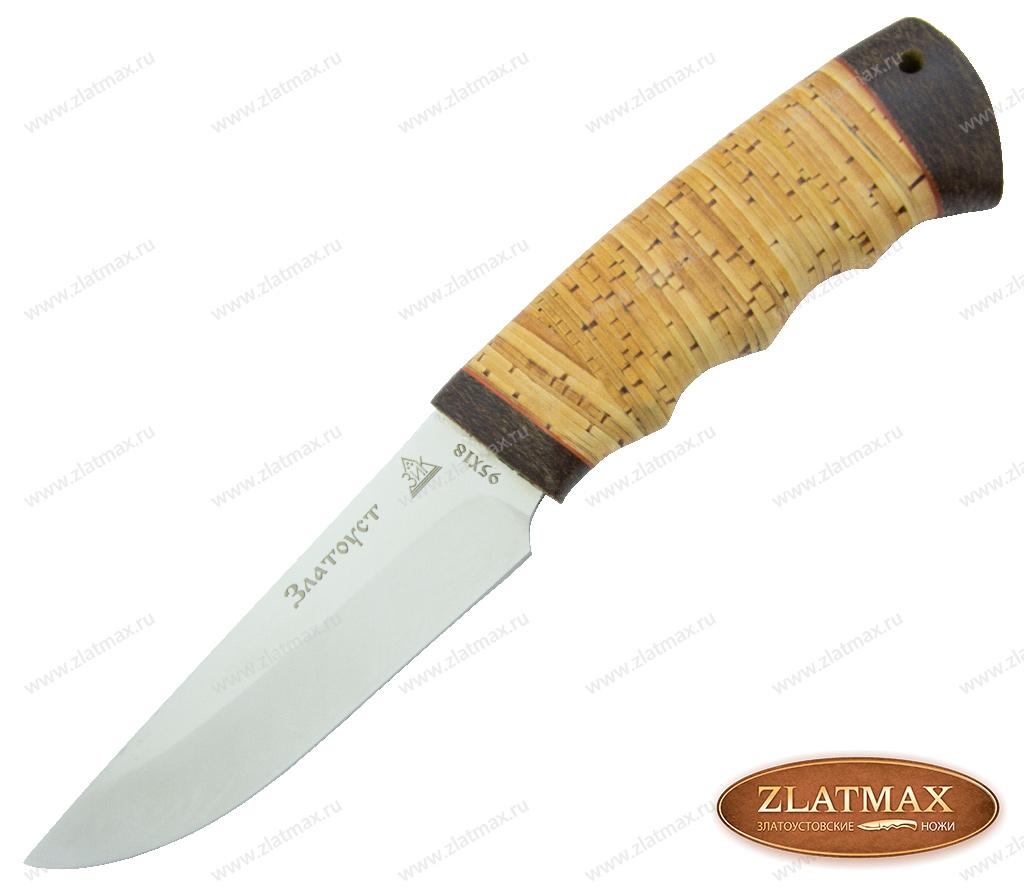 Нож Фартовый (95Х18, Наборная береста, Текстолит) фото 01
