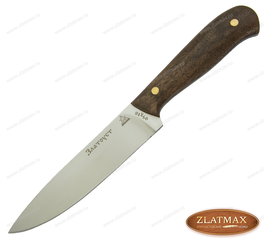 Нож Домашний ЦМ (95Х18, Накладки орех) фото 01