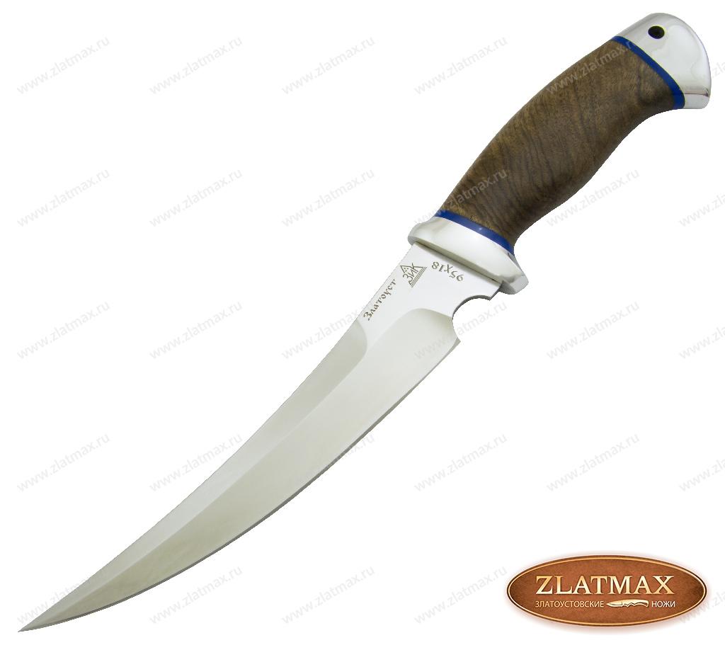 Нож Гюрза (95Х18, Орех, Алюминий) фото 01