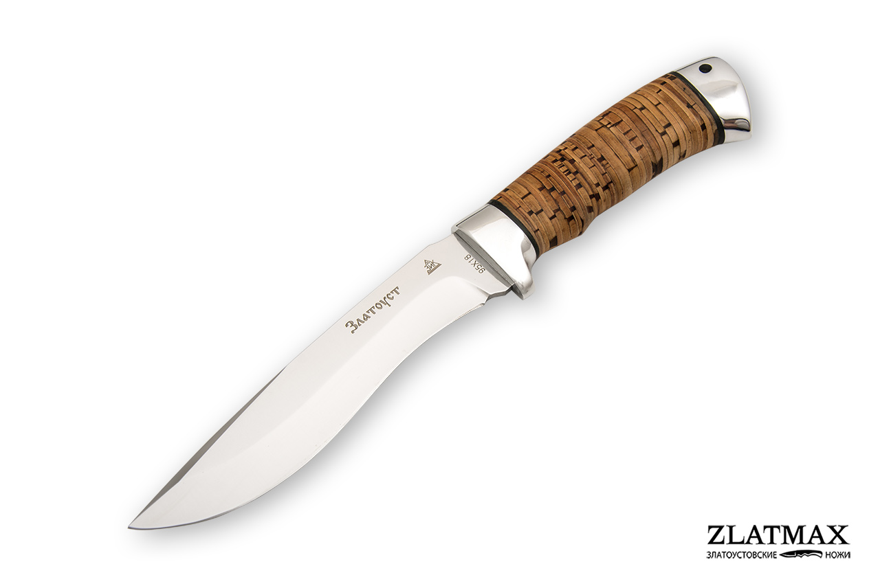 Нож Морской волк (95Х18, Наборная береста, Алюминий) фото 01