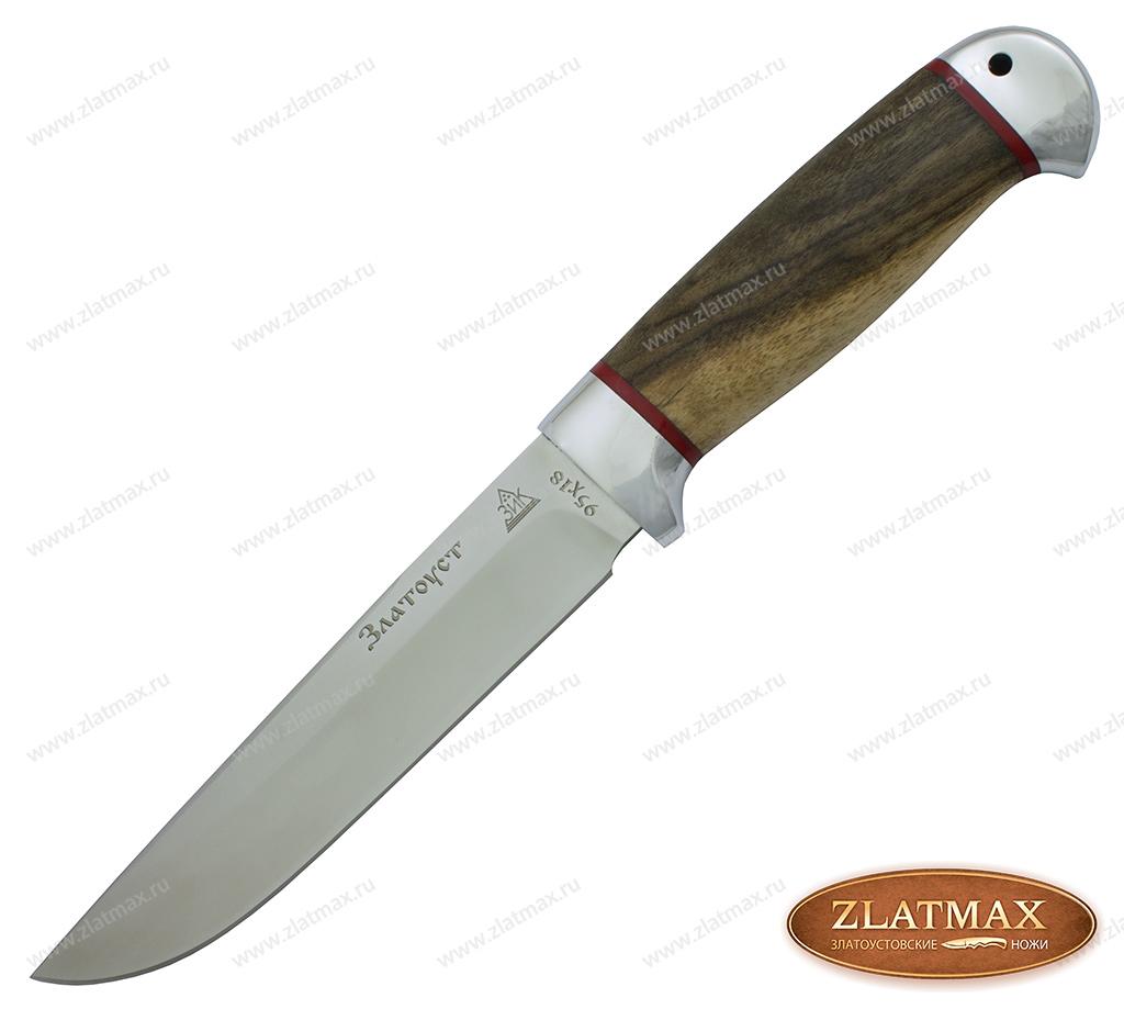 Нож Пустельга (95Х18, Орех, Алюминий) фото 01