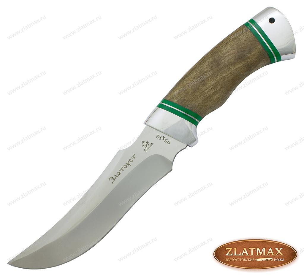 Нож Крюк (95Х18, Комбинированная орех, Алюминий) фото 01
