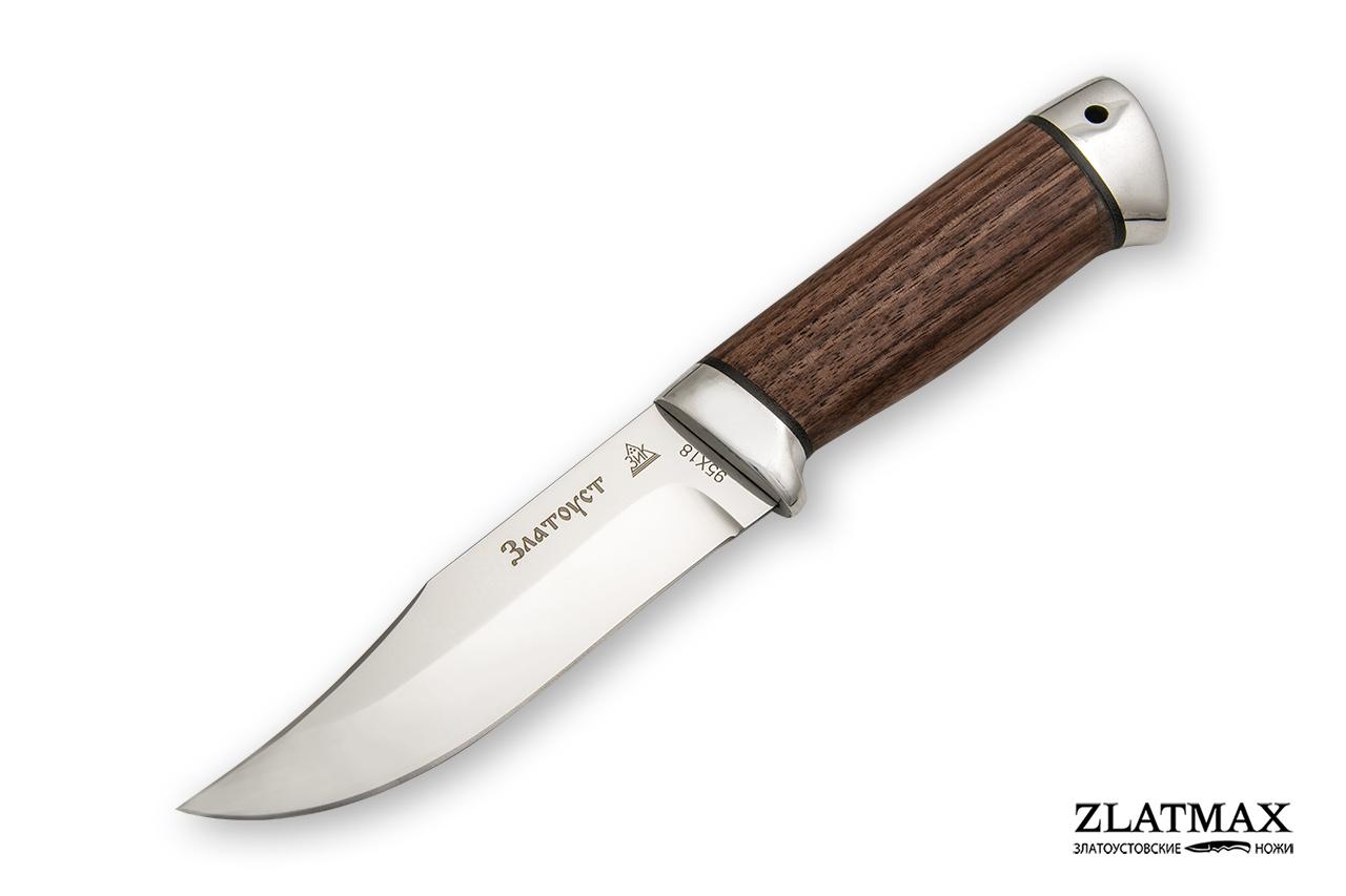 Нож Таежный малый (95Х18, Орех, Алюминий) фото 01