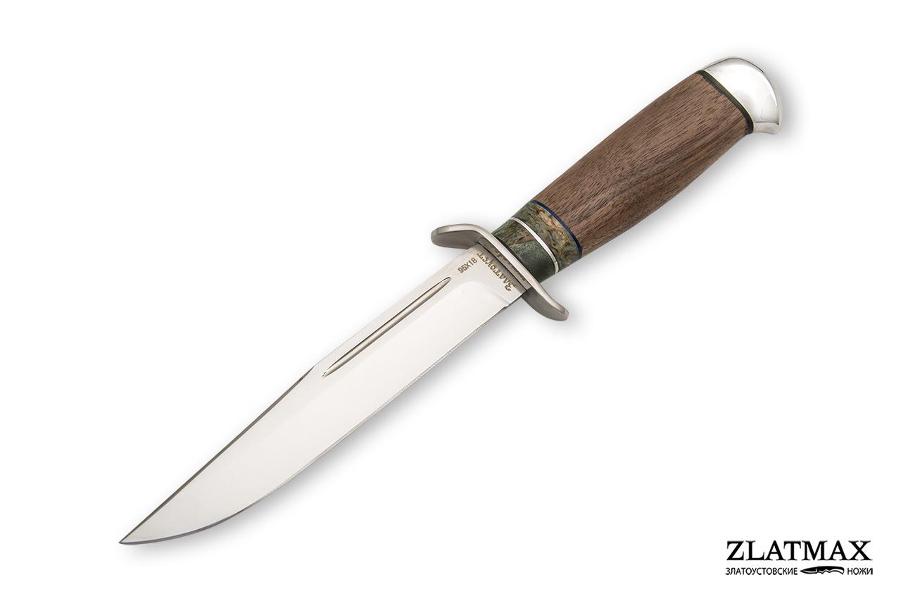 Нож Воин (95Х18, Орех, Нержавеющая сталь, Алюминий) фото 01