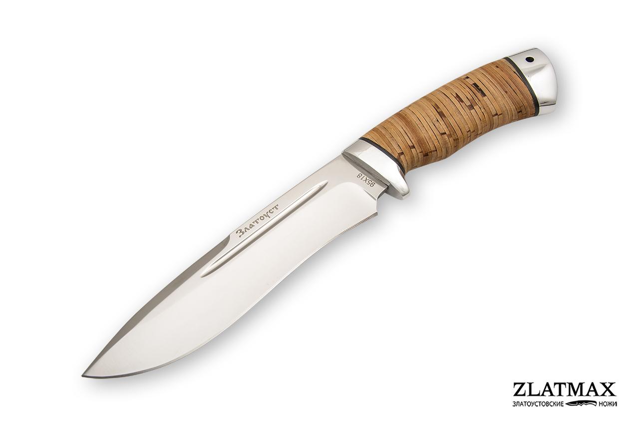 Нож Кондор (95Х18, Наборная береста, Алюминий) фото-01