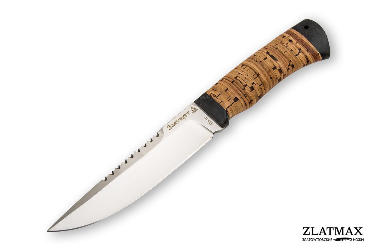 Нож Перо (95Х18, Наборная береста, Текстолит) фото 01