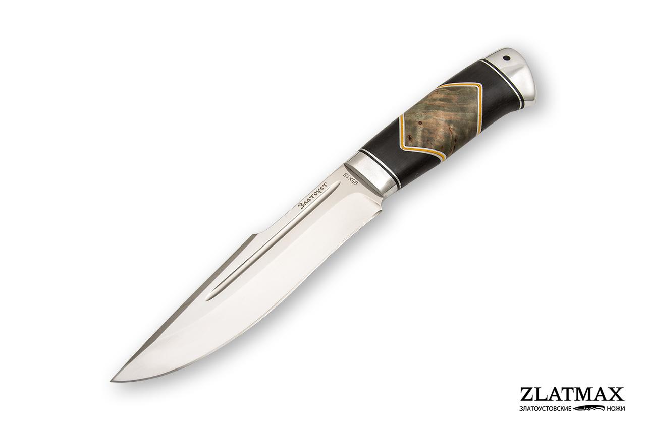 Нож Хищник (95Х18, Комбинированная люкс, Алюминий) фото-01