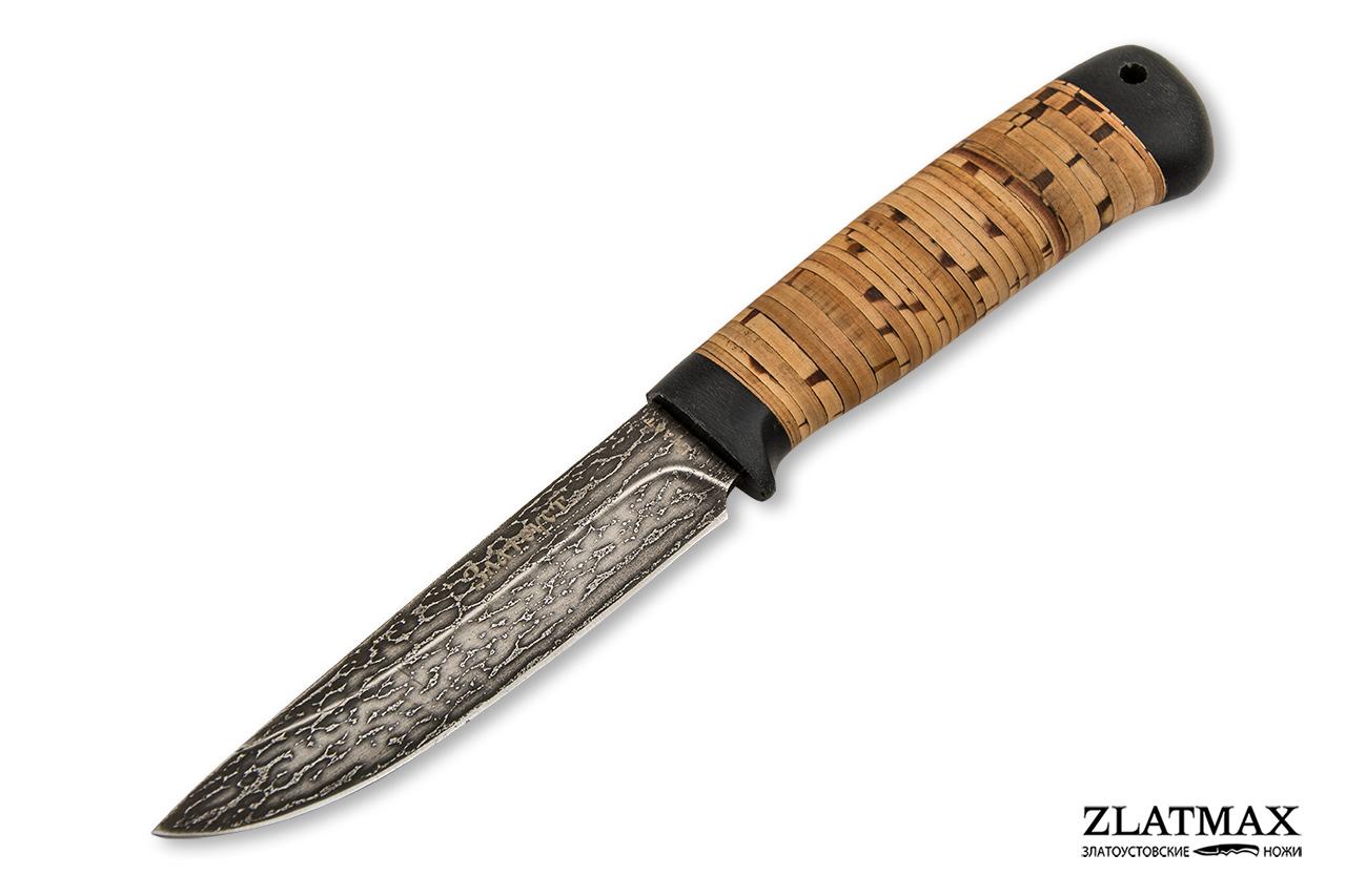 Нож Пустельга 2 (Литой булат, Наборная береста, Текстолит) фото 01