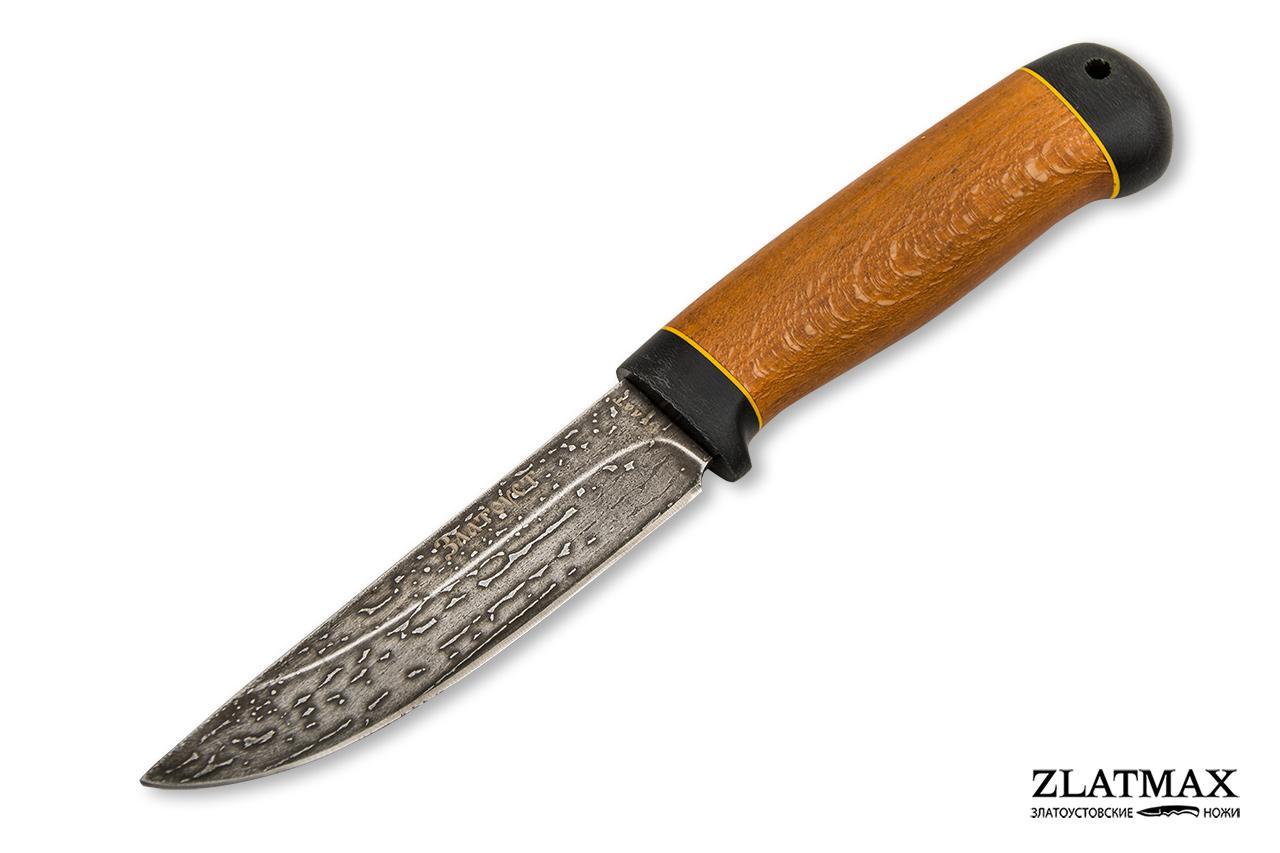 Нож Пустельга 2 (Литой булат, Стабилизированный бук, Текстолит) фото 01