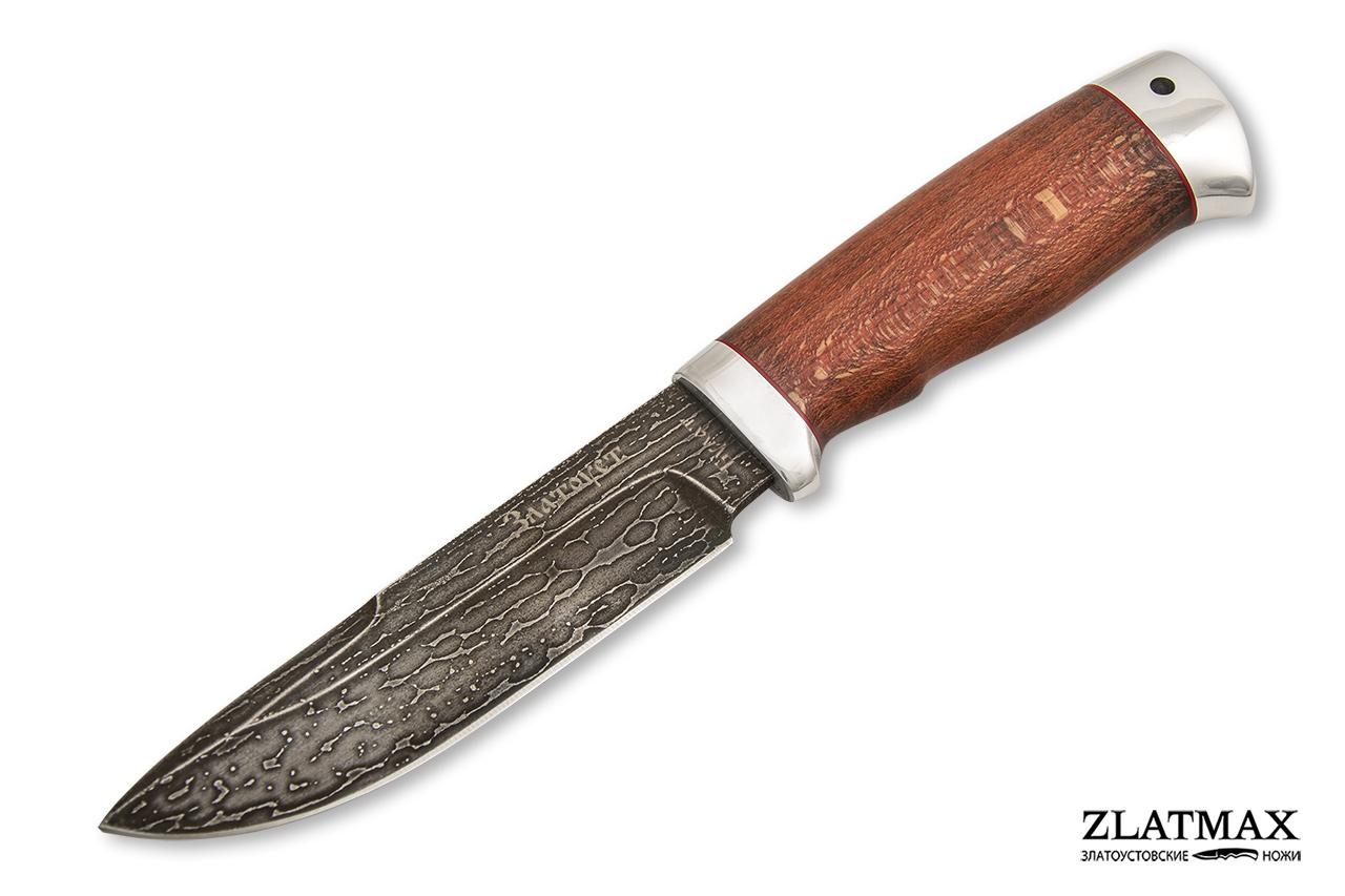 Нож Путный (Литой булат, Стабилизированный бук, Алюминий) фото 01