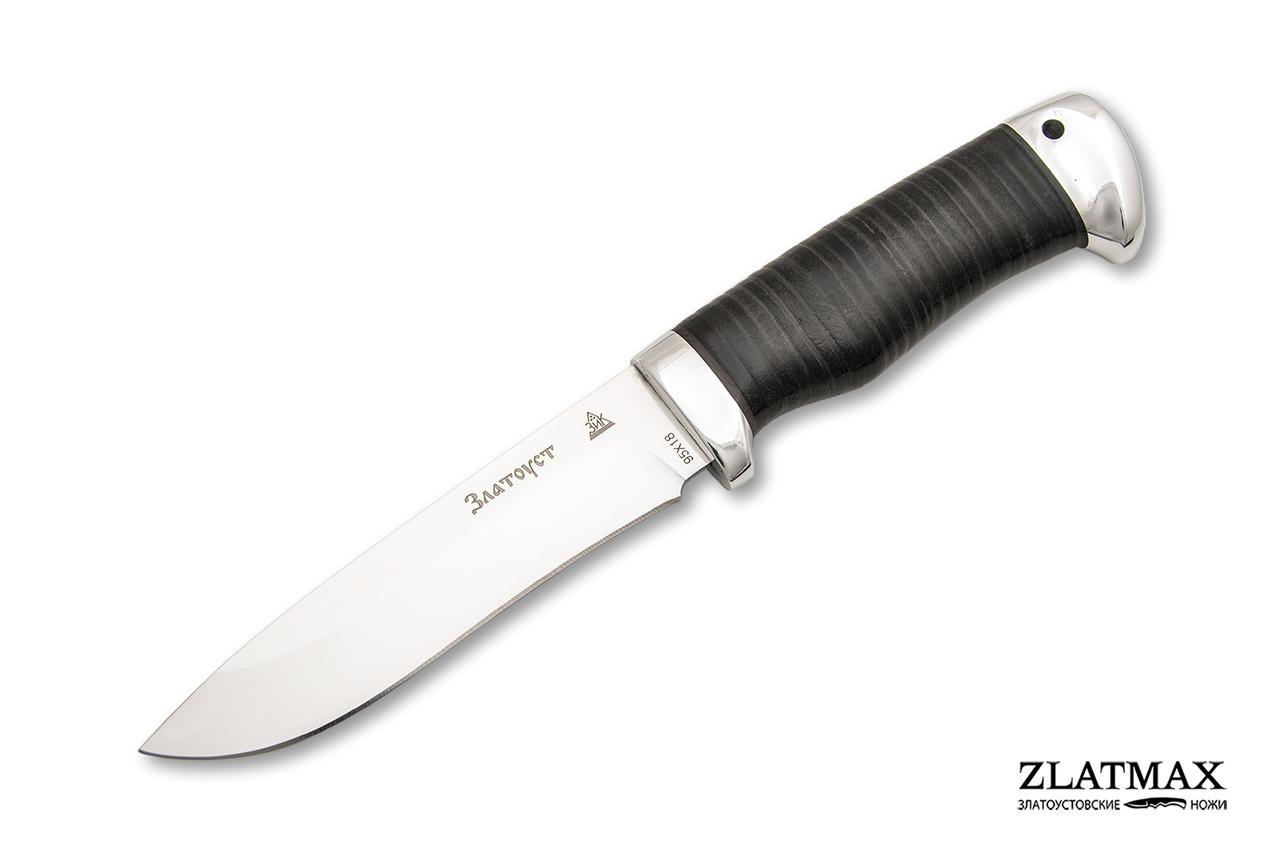 Нож Дуплет 2  (95Х18, Наборная кожа, Алюминий) фото 01