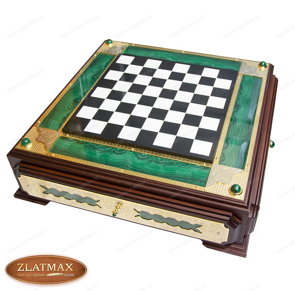 Шахматный ларец Малахитовый фото-01