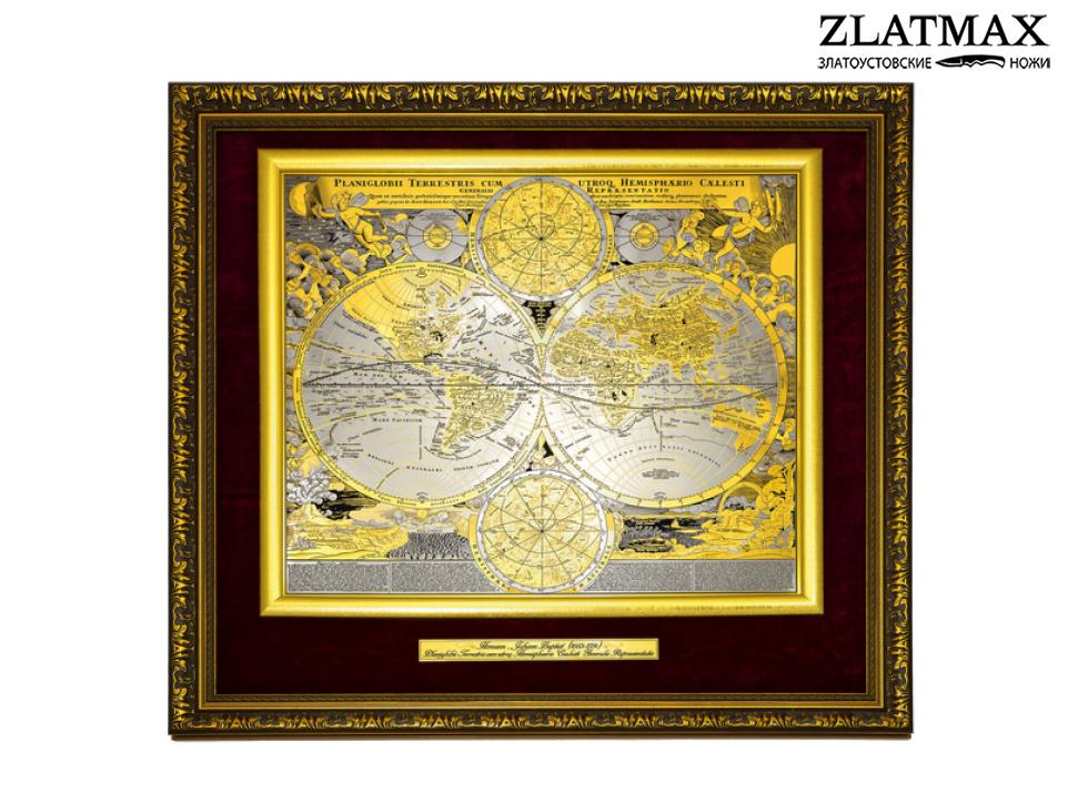 Панно Карта известного мира Иоганна Баптиста Гоманна фото 01