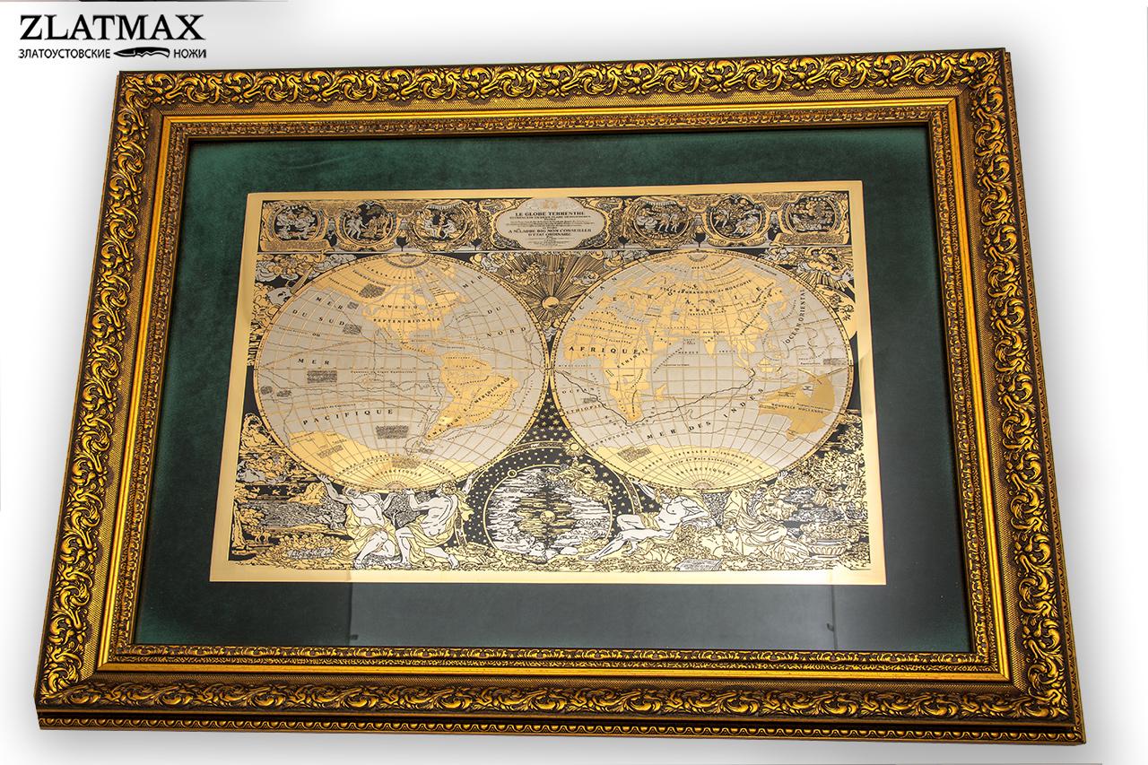 Карта мира Жана Баптиста Нолина 1708 г. фото-01