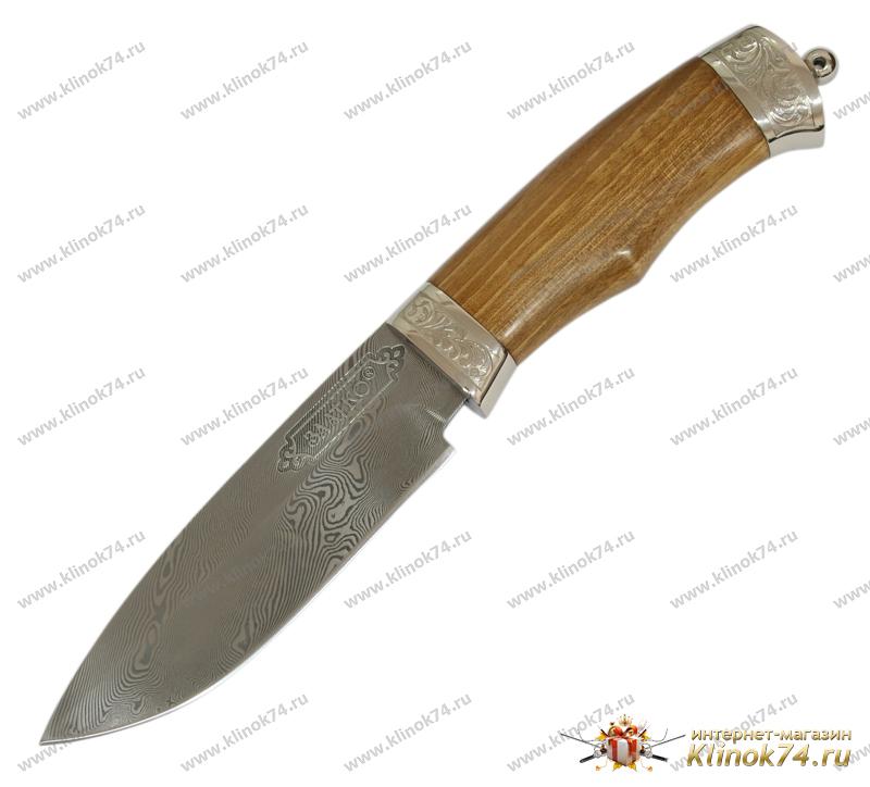 Нож Бизон (Дамаск, Орех, Металлический) фото 01