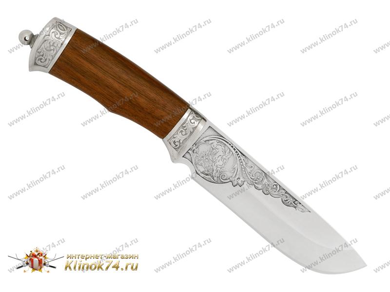 Нож Рысь (100Х13М, Орех, Металлический) фото 01