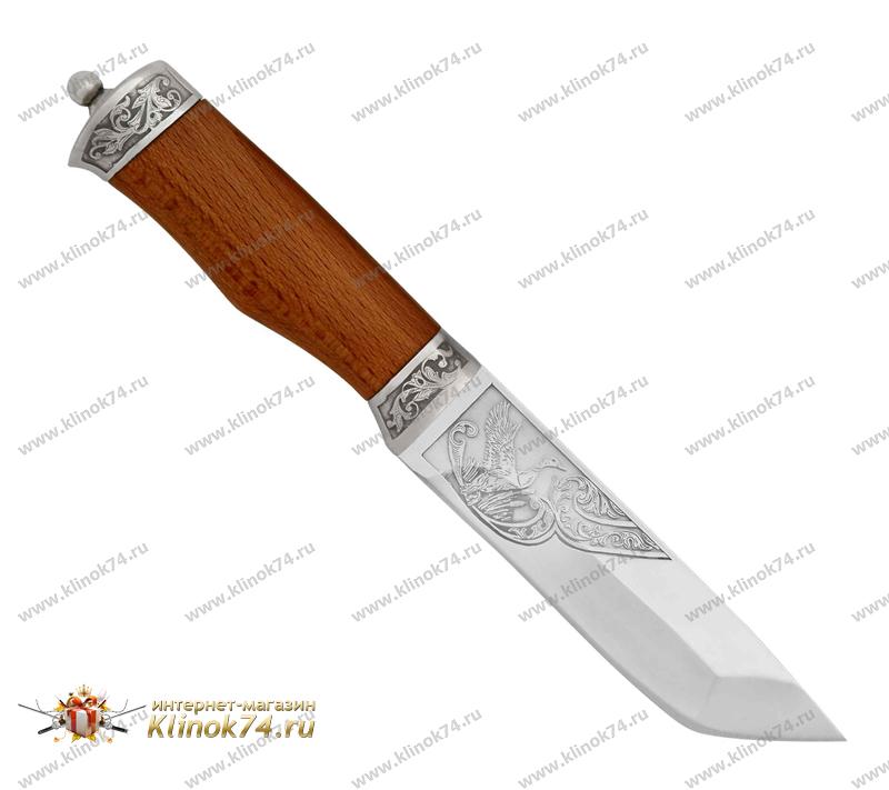 Нож Ястреб (100Х13М, Орех, Металлический) фото 01