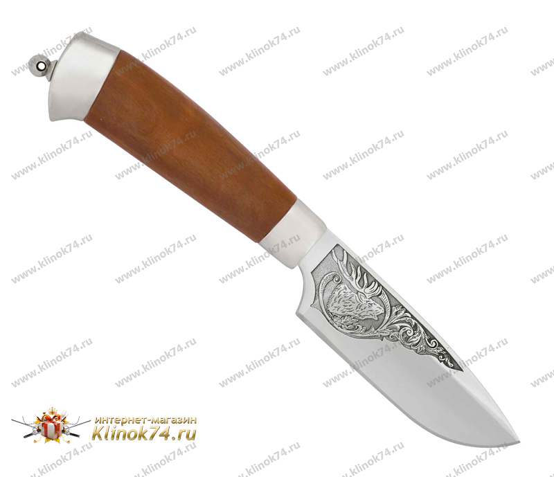 Нож Нерпа (100Х13М, Орех, Металлический) фото 01