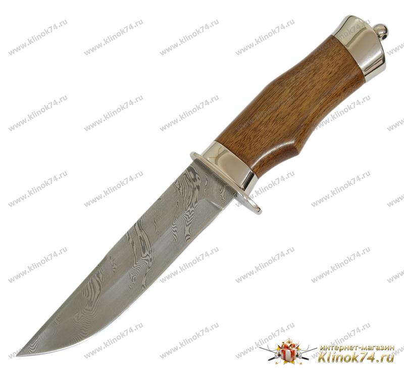 Нож Спец (Дамаск ZD-0803, Орех, Металлический) фото 01